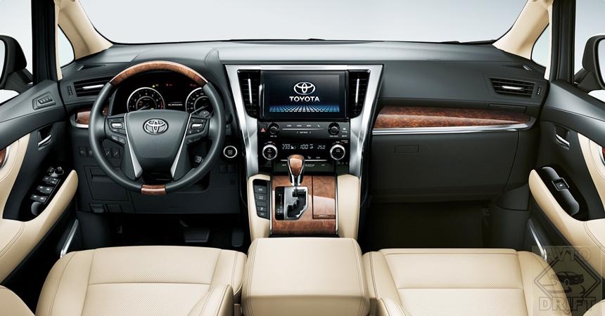 toyota alphard3 - Toyota представила обновлённый минивэн Alphard для России
