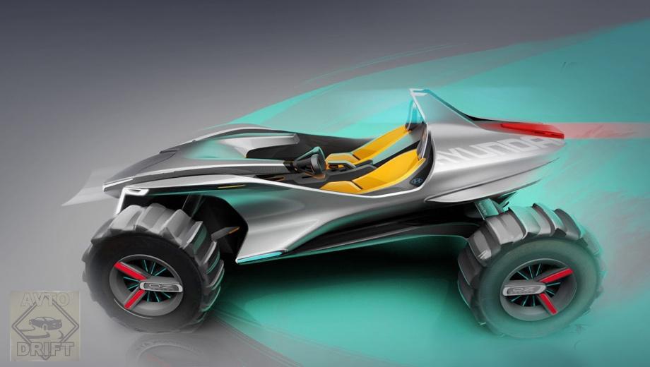 5a86e1faec05c4c572000070 - Hyundai представил на автосалоне в Женеве двухместный квадрогидроцикл Kite на электрической тяге
