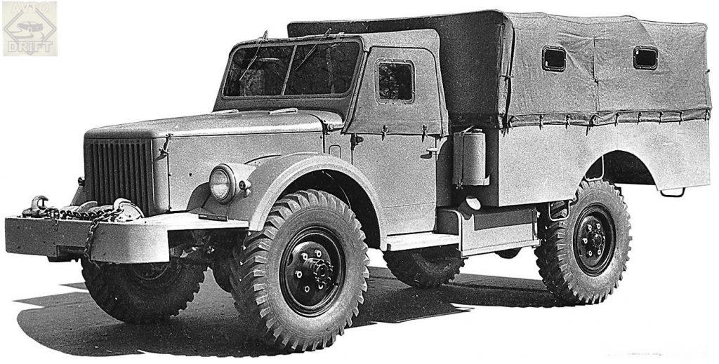 Avtomobil GAZ 62A 1024x519 - Немного истории: ГАЗ-62 - первый советский полноприводный армейский вездеход