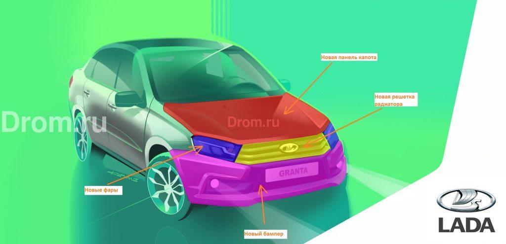 2808077 1024x495 - В интернет «слили» фото нового седана Lada Granta