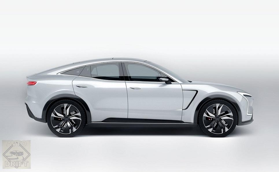SF7 Side White - SF Motors представил два гипермощных электрических кроссовера