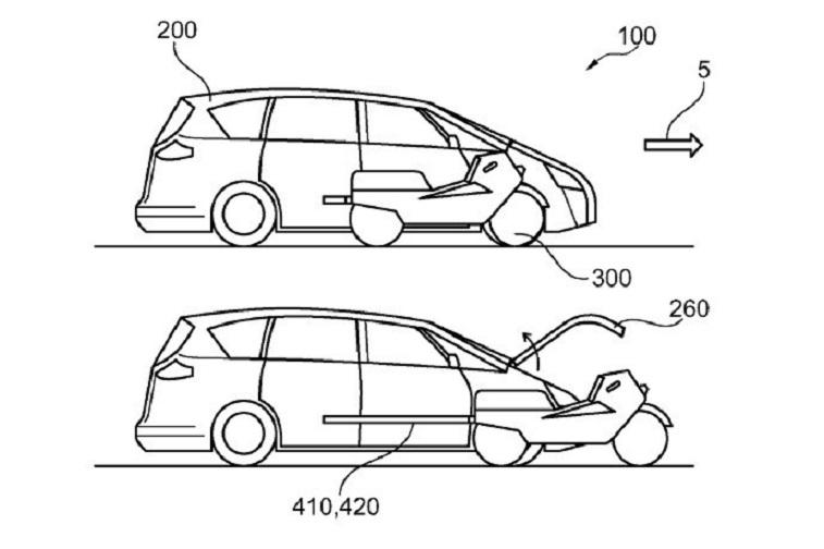 hhh1 - Американская матрёшка: Ford запатентовал автомобиль со встроенным мотоциклом