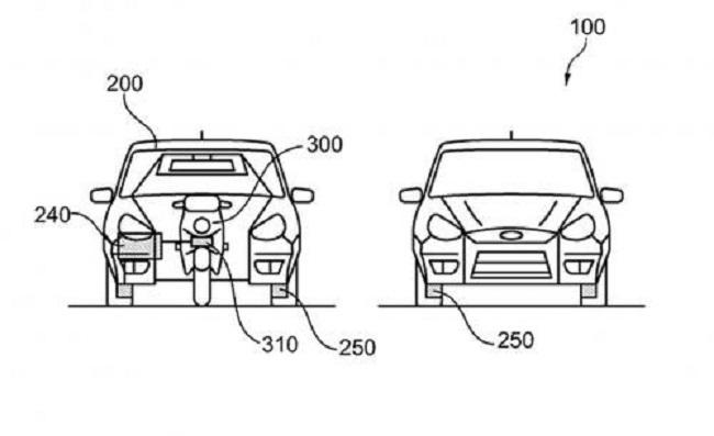 hhh2 - Американская матрёшка: Ford запатентовал автомобиль со встроенным мотоциклом