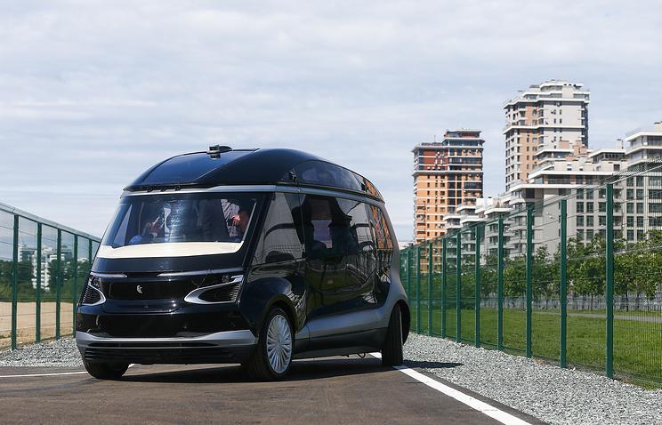 113214717492 - Камаз показал новый беспилотный микроавтобус на электрической тяге