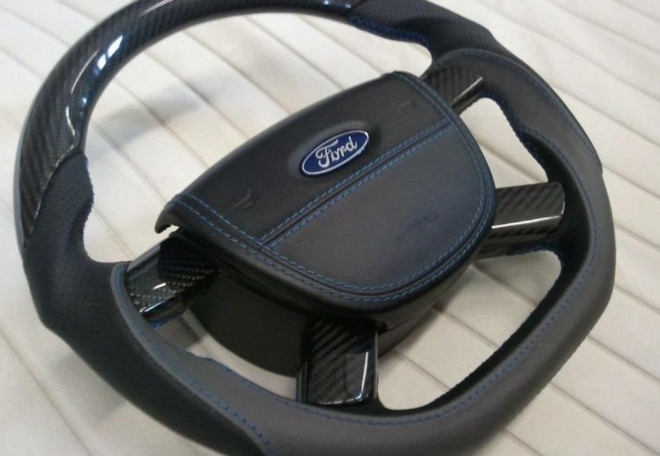 24294940650 - Ford запатентовал складывающееся под подставку для ноутбука рулевое колесо