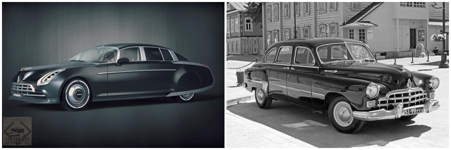 21324 - Российский дизайнер представил проект модернизированного советского ГАЗ-12 ЗИМ