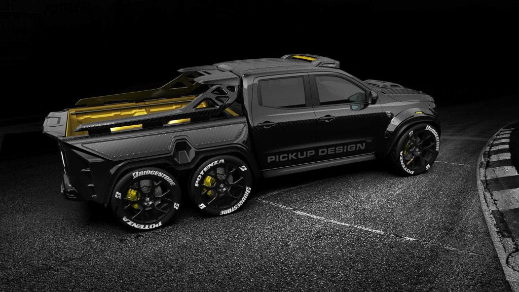 pickup design exy monster x concept mercedes benz x class 1024x576 - Пикап Mercedes-Benz X-Class получил 6-колёсную версию