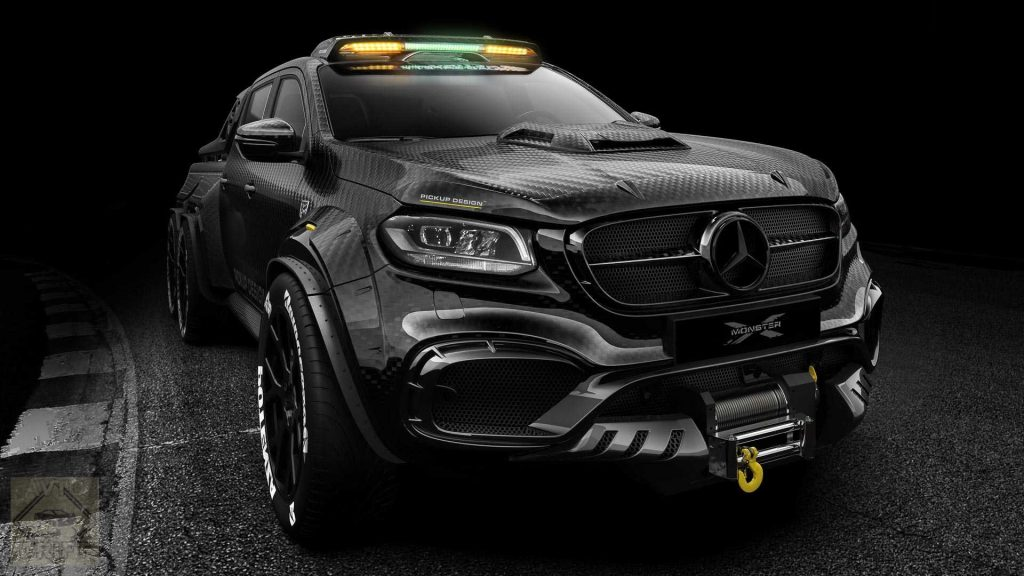 pickup design exy monster x concept mercedes benz x class 2 1024x576 - Пикап Mercedes-Benz X-Class получил 6-колёсную версию