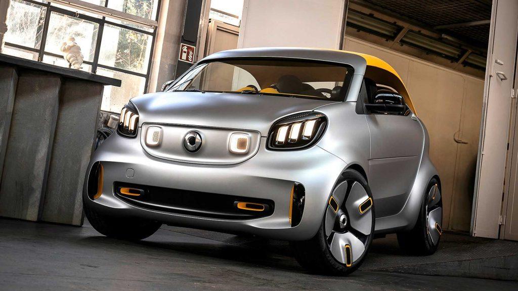 smart forease concept 1 1024x576 - В Женеву едет самый маленький кабриолет на электрической тяге